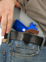 Barsony Brown Leather Iwb Gun Holster For Na Arms, Llama Mini 22 25 380