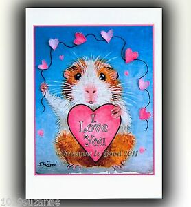 Guinea-Pig-art-Valentines-Card-large-from-original-painting-by-Suzanne-Le-Good