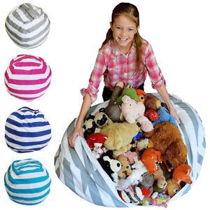Kinder-Spielzeug-Aufbewahrungstasche-Stofftier-Sitzsack-Aufraeumsack-Spieldecke