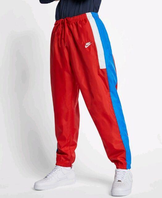 75bbf45d3859c LARGE NIKE MEN'S Sportswear Woven Pants AQ1895 657 RED BLUE MULTICOLOR SPORT