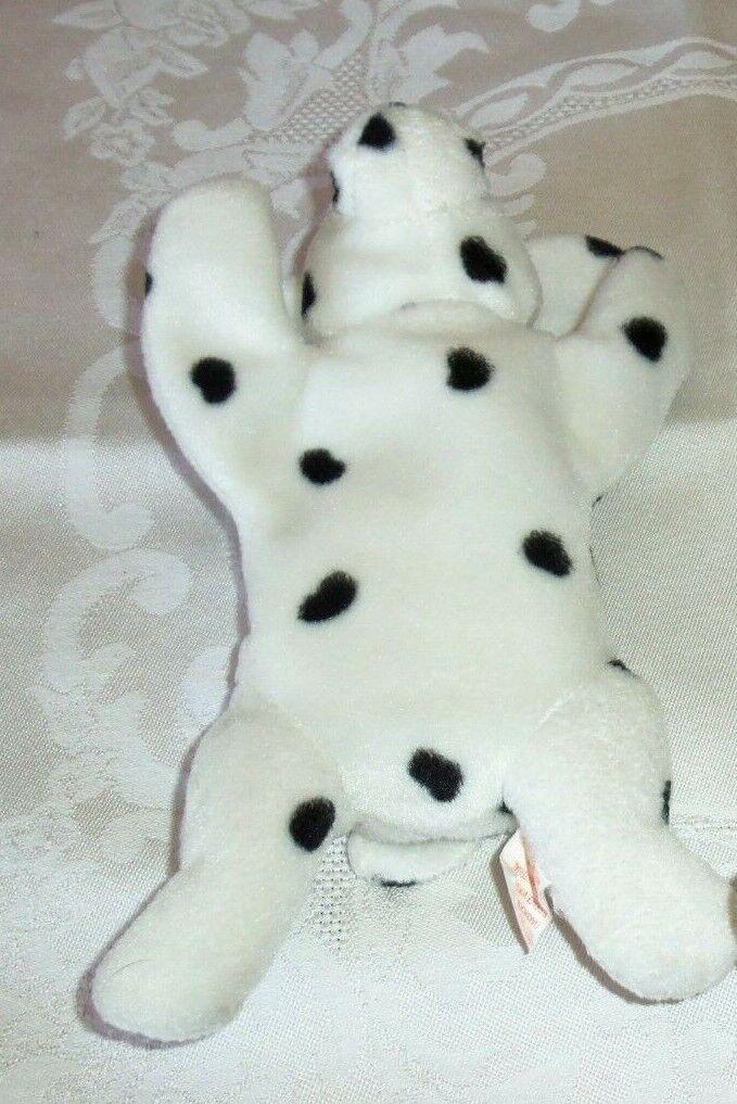 Rare Rare Rare TY 1996  Sparky  Dalmatian Beanie Baby-PVC Pellets, SUFRACE  tag error 27bb5d