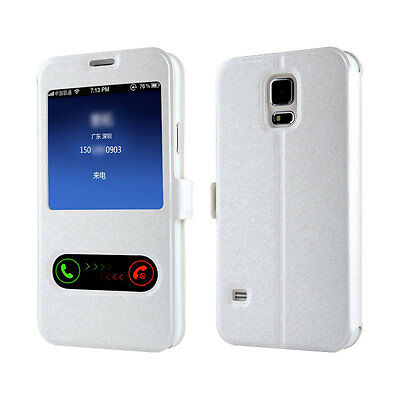 New Slim View Flip Smart Case Cover For Samsung Galaxy S3 S4 S5 S6 S6 edge Plus