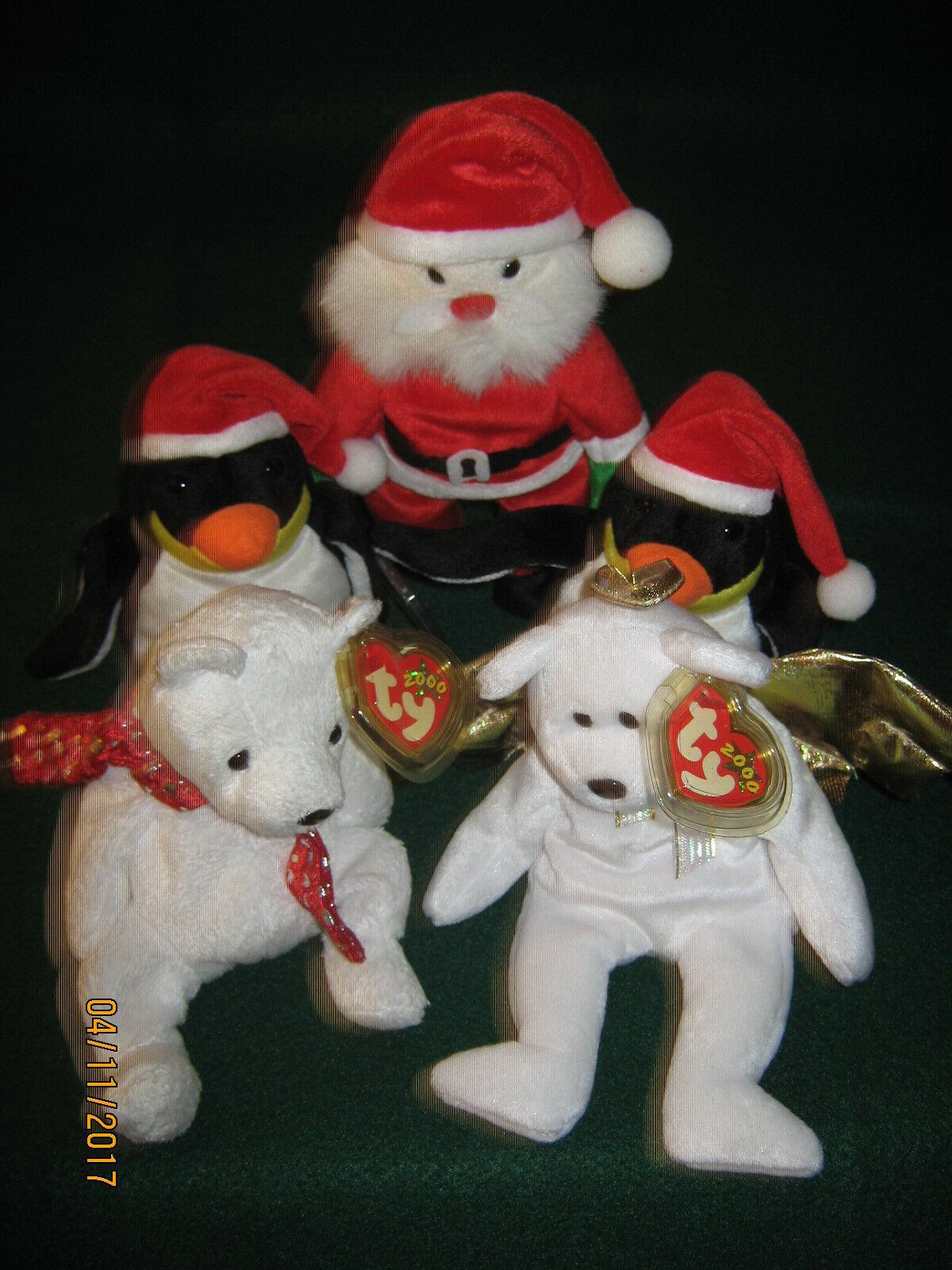 TY Beanie Babies HOLIDAY Set of 5 TAG PredECTORS