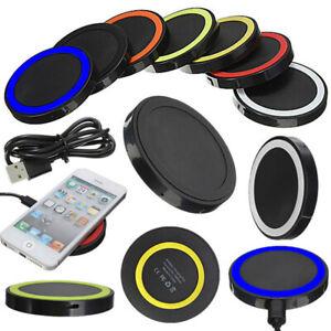 1X Cargador Inalambrico Carga Rápido Wireless Pad Base Carga Para...