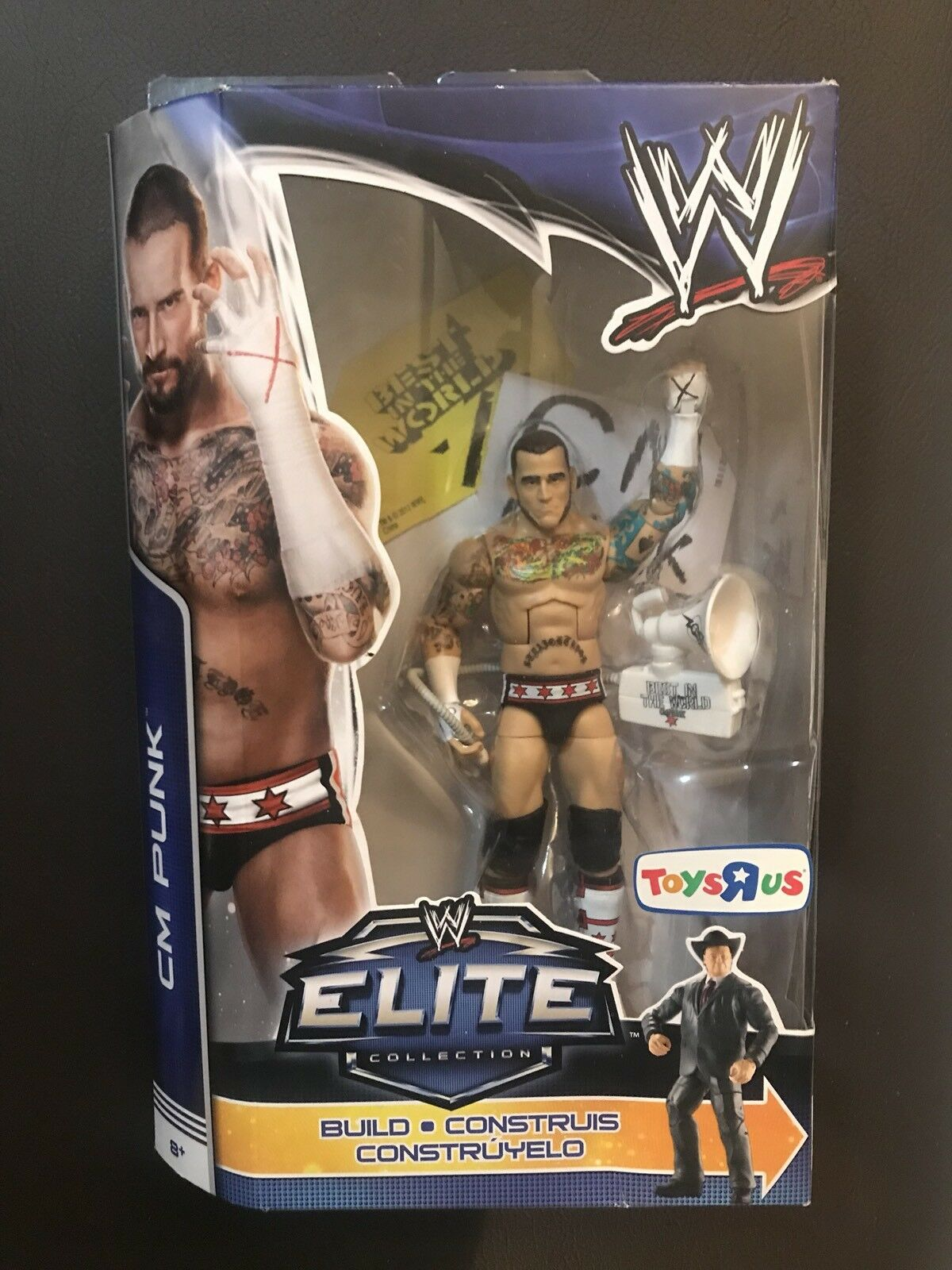 CM Punk WWE Mattel Elite Build A Figure Jim Ross TRU Exclusive Best Of PPV RARE