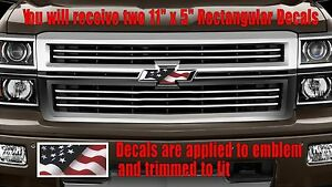 Details about American USA Flag OVERLAY Decals Stickers for Chevy Bowtie  Emblem- 2 U CUT