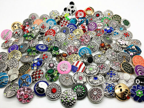 Wholesale interchangeables 18 mm Strass Boutons pressions Charms Fashion Jewelry