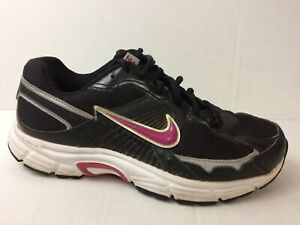 Details about Nike Dart 7 Womens 7.5 Med Black Purple Running Shoes Sneakers Silver 354138 052