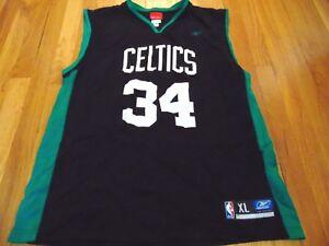 VINTAGE REEBOK NBA BOSTON CELTICS PAUL PIERCE BLACK JERSEY SIZE XL ... 3bd6d39c2