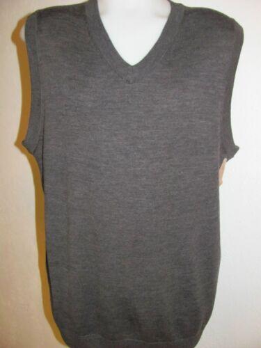 NEW 3XLT 3XT  TURNBURY 100/% Merino Wool V-Neck Sweater VEST Charcoal GREY GRAY