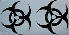Zombie Outbreak Stickers, Decals Land Rover, 4x4, bumper, Zombie Hunters x 2