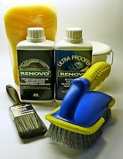 Renovo Convertible Fabric Soft Top Cleaner & Proofer COMPLETE KIT with brushes