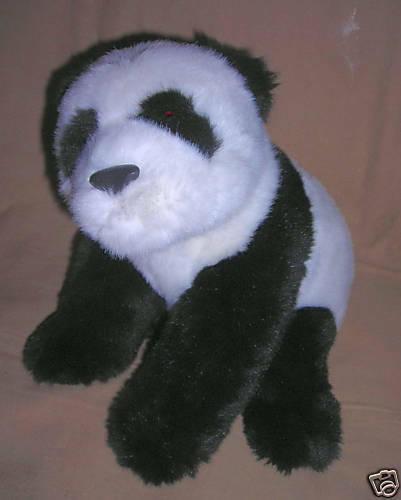 GUND  WORLD WILDLIFE FUND  plush PANDA BEAR    item 41693   11 inch   smoke free