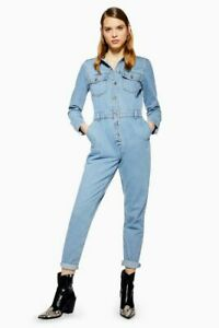Ex-TOPSHOP-Blue-Denim-Button-Boiler-Suit-UK-8-US-4-EUR-36-TS11-6