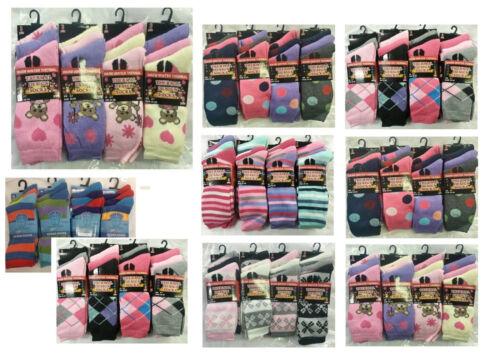 1,3 pairs Womens WINTER Warm Thick THERMAL Socks Hike Boot Ladies Socks  4-7