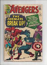 AVENGERS #10 G/VG Kirby Heck 1st Immortus Zemo Masters of Evil Hercules 1965