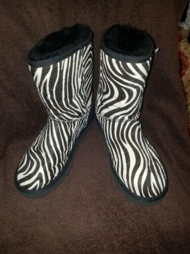 UGG AUSTRALIA S/N10027 Zebra Leather Calf Hair Sh