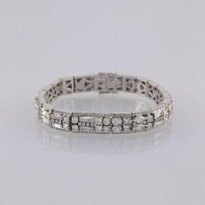 14-95-Carat-Multi-Diamond-Bracelet-18ct-White-gold