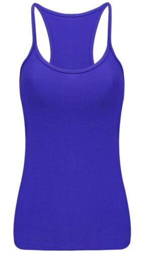Ladies Women Neon Vest Stretchy Lycra Top Causal Party Dance Vest Tops