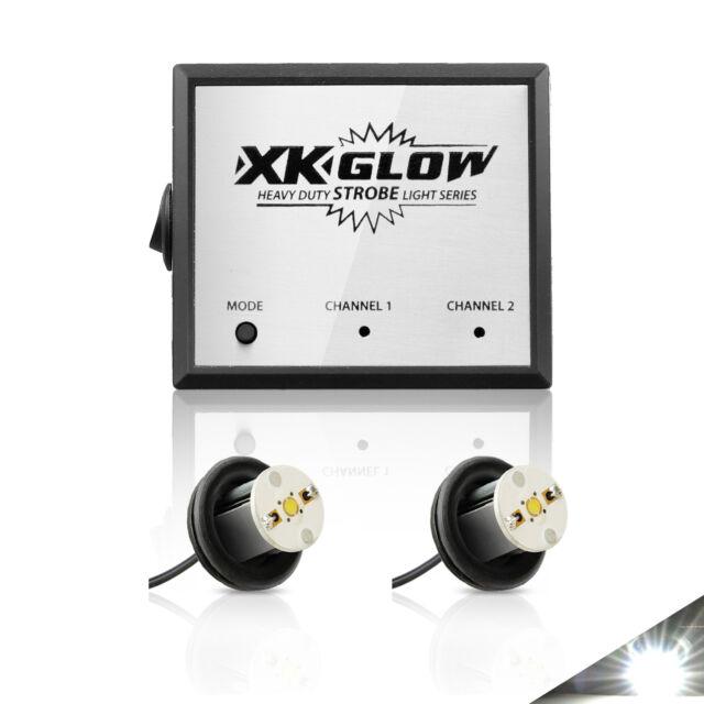 NEW HEADLIGHT & TAIL HID LED 2PC 8W STROBE LIGHT KIT