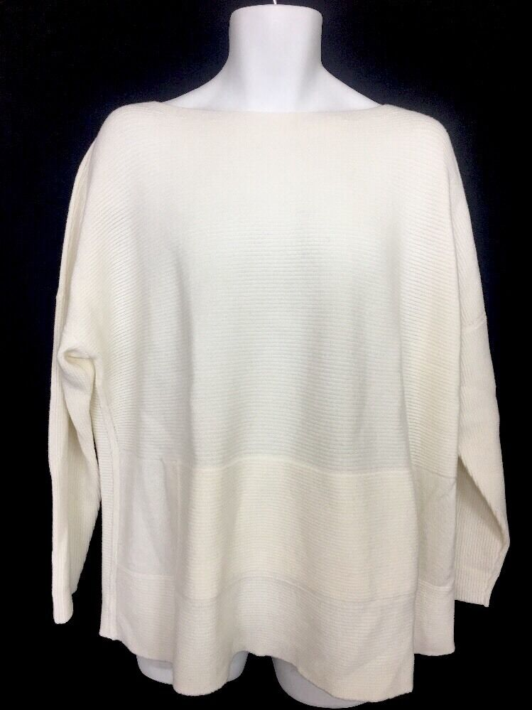 Lafayette Sweater Ivory Textured Long Sleeve Laine Wool Size 2X NWT
