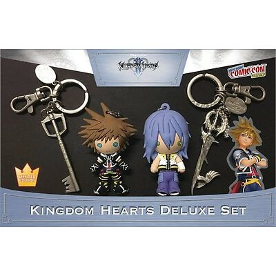 NYCC 2016 KINGDOM HEARTS DELUXE KEY RING SET LIMITED EDITION UNOPEN #smar17-97