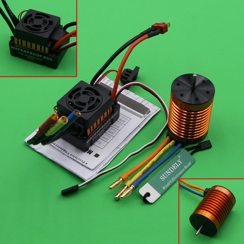 Speed + Combo Car 1 10 Motor RC for 4370KV 60A Brushless ESC RC763 Controller 9T