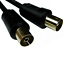miniatuur 2 - Digital TV Aerial Cable 1m - 50m RF Coaxial Television Extension Gold / Fly Lead