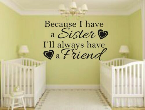 Because i have a sister ill always have a friend Wall art Decal Sticker