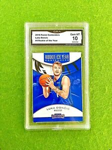 LUKA-DONCIC-ROOKIE-CARD-GRADED-GEM-MINT-10-GMA-RC-2018-19-Panini-Contenders-RoY