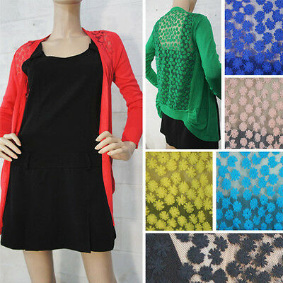 Women's Lace Sweet Candy Crochet Knit Blouse Top Coat Sweater Cardigan Shirt Z