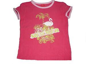 s-Oliver-tolles-T-Shirt-Gr-140-rosa-mit-Flamingo-Motiv