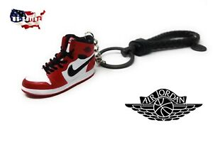 5c8c1091357fb8 Kicksmini Air Jordan 1 CHICAGO 3D mini Sneaker Keychain - GIFT SET ...