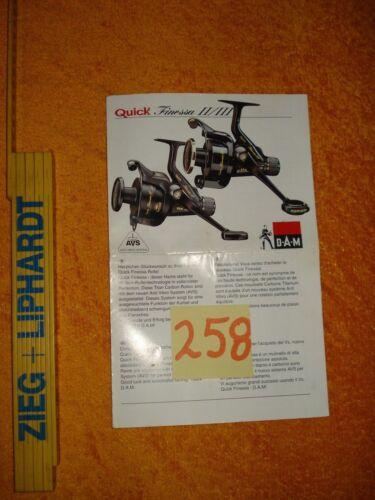 DAM Quick Finessa II/III   Beipackzettel und Explosionszeichnung  (258)