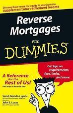 Reverse Mortgages For Dummies, Lyons, Sarah Glendon, Lucas, John E., Good Book
