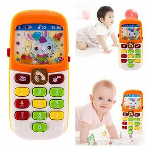 Baby-Kid-Musical-Telefono-Cellulare-Per-Bambino-Suono-Udito-educare-Learning-Giocattolo-EP