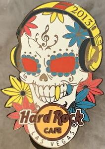 Hard-Rock-Cafe-LAS-VEGAS-2013-SUGAR-SKULL-Wearing-Headphones-PIN-HRC-72628