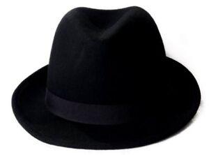 ce4decbb Pure Wool Felt Trilby Hat - Size 61cm 5055595853260 | eBay