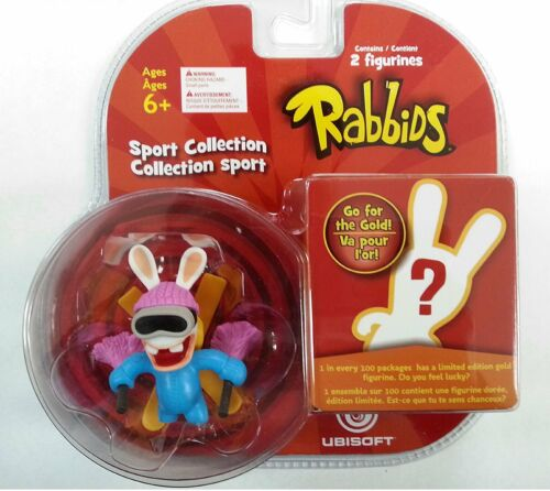 Rabbids in Sports Skiing  +1 Mystery Figure Brand New & Sealed(TOY-00785/SF-2001