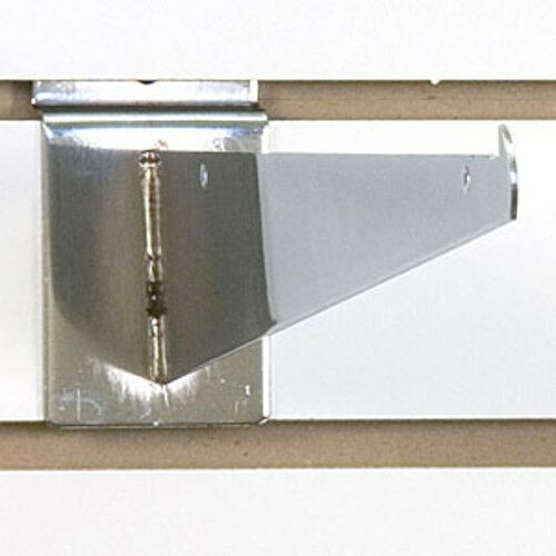 Count of 25 New Retails Chrome finished Slatwall 12 shelf bracket
