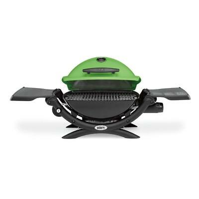 Weber Q 1200 Portable Tabletop Propane Gas Bbq Grill Quick Outdoor Camping Green 726084429819 Ebay