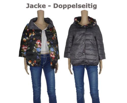 Doppelseitig Winterjacke Damenjacke Warme Steppjacke mit 7//8 Arm Parka