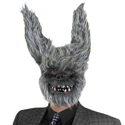 KILLER BUNNY RABBIT MASK HORROR SCARY ANIMAL HALLOWEEN FANCY DRESS COSTUME
