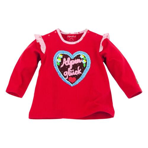 62 74 80 92 Bondi Alpenglück Trachten Shirt Tshirt Sweat Neu rot Gr