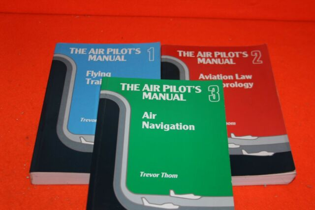 AIR PILOTS MANUAL x 3 VOLUMES ONE, TWO,THREE IN USED GOOD CONDITION BULK SALE