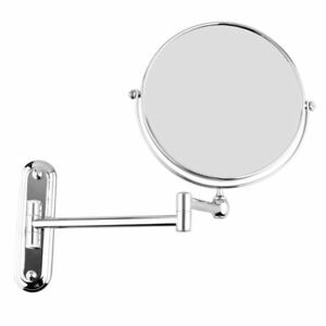 Silver-Extending-8-inches-cosmetic-wall-mounted-make-up-mirror-shaving-bath-F3P7