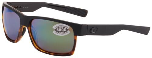 Costa Del Mar Half Moon Sunglasses HFM-181-OGMGLP Black 580G Green Polarized