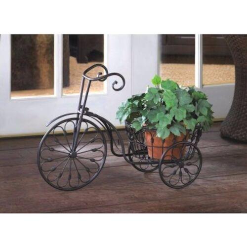 Bicycle Plant Stand w Basket Garden Yard Decor Planter