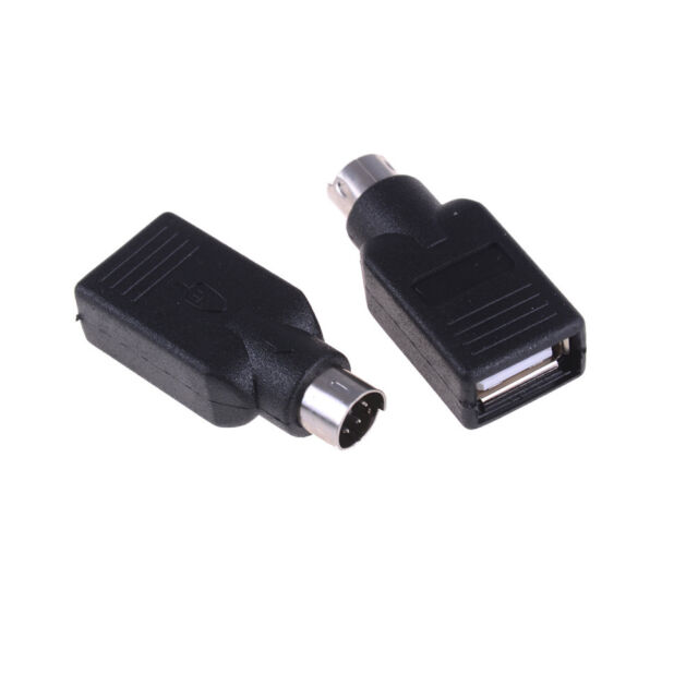 2PCS USB Female in to Male Adapter Converter for PS2 Computer Keyboard Mouse ne
