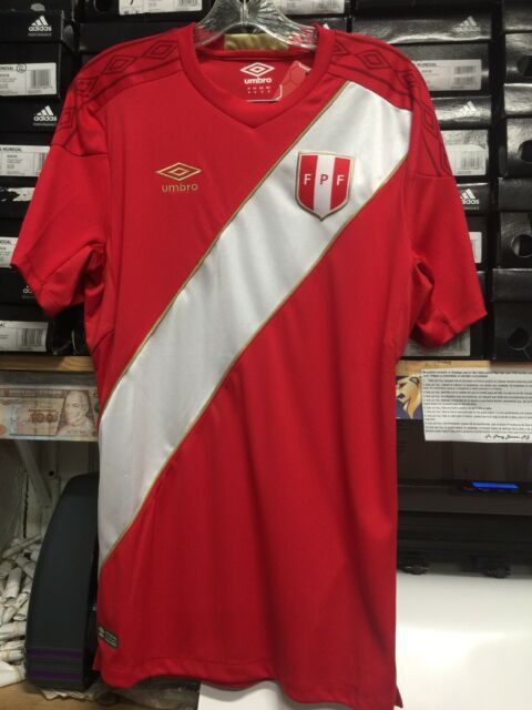 c51e352377a 2018 Umbro Men s FIFA World Cup Peru Away Jersey Authentic Sz M for ...